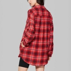 🌻WILD FABLE NWOT Very Oversized Red Black Flannel